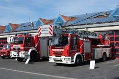 Journée 'portes ouvertes' des sapeurs-pompiers allemands à Bayreuth (Bavière) images stock