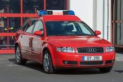 Journée 'portes ouvertes' des sapeurs-pompiers allemands à Bayreuth (Bavière) image stock