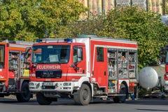 Journée 'portes ouvertes' des sapeurs-pompiers allemands à Bayreuth (Bavière) image libre de droits