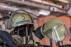 Journée 'portes ouvertes' des sapeurs-pompiers allemands à Bayreuth (Bavière) photos libres de droits