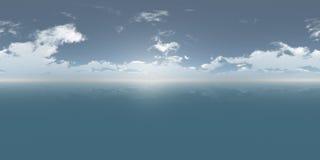 Journée sans couture de panorama du ciel 360 et de la mer illustration de vecteur