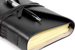 Journal. Photo of a Journal and Pen Stock Photo