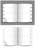 Journal. Open journal on a gray and white background. Vector illustration stock illustration