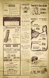 Journal add. Old Port-Cartier Quebec, Canada Newspaper add in 1966 royalty free stock photos