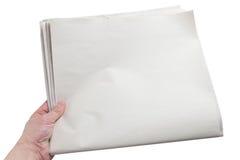 Journal blanc photo stock