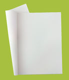 journal blanc ouvert Photo stock