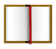Journal book with red divider. Journal book organizer with divider Stock Photo