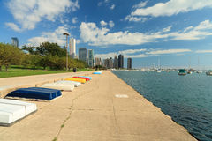 Journal de bord du lac de Chicago Photo libre de droits