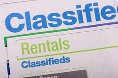 Journal de Classifieds photos stock