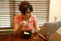 journal de déjeuner images libres de droits