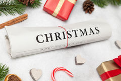 Journal de Noël Photos stock