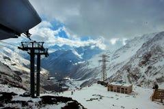 Journal de ski La vue à partir du dessus Photo stock
