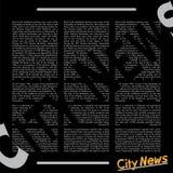 Journal des informations locales Images libres de droits
