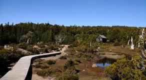 Journal et hutte de montagne Image libre de droits