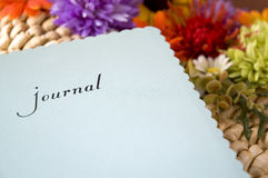 Journal with flowers Royalty Free Stock Photography