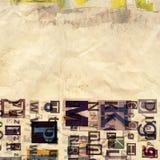 Journal, fond de collage de magazine Photo libre de droits