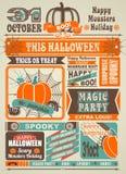 Journal Halloween de fête d'actualités Photographie stock