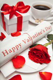 journal heureux du jour de valentine Images stock