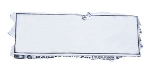 journal horizontal de découpage blanc Image stock