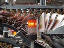Journal industriel de transport de presse typographique pour le media photos stock