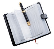 Journal intime avec le stylo Photographie stock