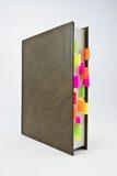 Journal intime avec les étiquettes colorées Image stock