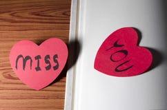 Journal intime de l'amour Images libres de droits