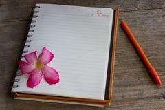 Journal intime de nouvelle année photographie stock