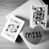 Journal intime de style noir et blanc de ton de couleur d'amour Photo stock
