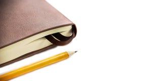 Journal intime en cuir orange image stock