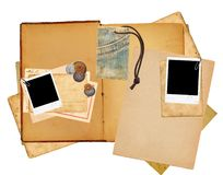 Journal layout. Isolated in white background stock illustration