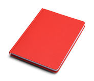 Journal Red. Red Closed Handback Book With Copy Space Isolated on White Background royalty free stock photo