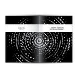Journal scientifique de livret de couverture Image stock
