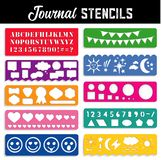 Journal Stencils, collection of ten royalty free illustration