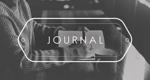 Journal Writing Note Information Blog Concept Royalty Free Stock Photography