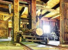 Journaler på en Sawmill arkivfoton