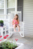 Journaling on the front porch Royalty Free Stock Photos
