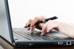 Journalisation. Image stock