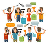 Journalism concept vector illustration in flat style. Hot news template. Mass media Royalty Free Stock Photos