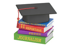 Journalism education concept. 3D rendering Royalty Free Stock Image
