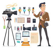 Journalism Elements Set Stock Image