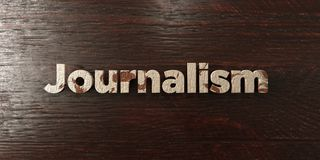 Journalism - grungy wooden headline on Maple  - 3D rendered royalty free stock image Stock Photos