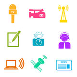 Journalism Icons Set Stock Images