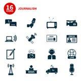 Journalism Icons Set Stock Photos