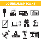 Journalism Icons Set Stock Photo