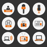 Journalism Icons Set Royalty Free Stock Images
