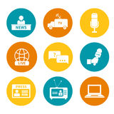 Journalism Icons Set Royalty Free Stock Image