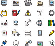 Journalism and media icons Royalty Free Stock Photos