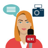 Journalism and media Stock Image