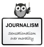 Journalism. Monochrome Journalism sensationalism sign isolated on white background Stock Photos